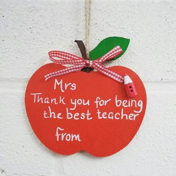 Teacher Teaching Assistant Personalised Thank You Apple Shaped Plaques