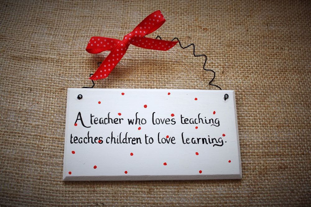 Teacher Thank you handmade painted decorative plaque sign