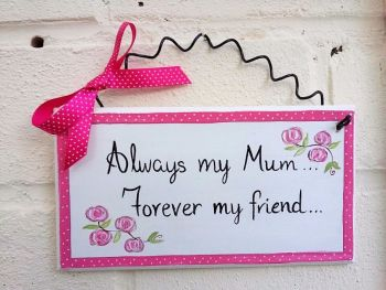 Mum handmade Christmas Gift Idea hand painted plaque