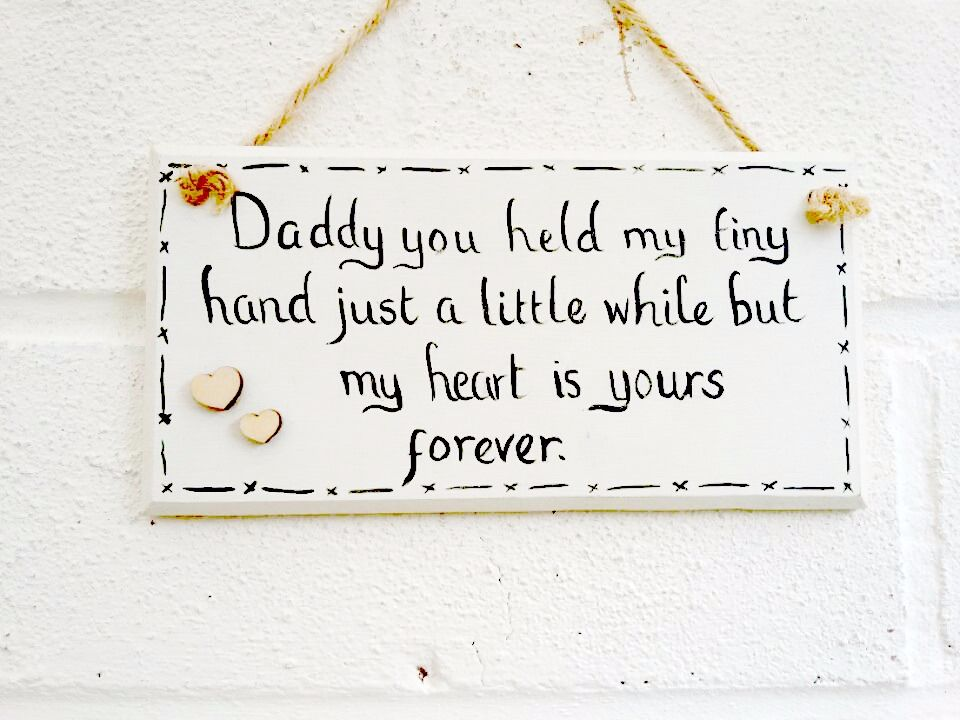 Handmade and painted wood Father's Day/Dad plaque