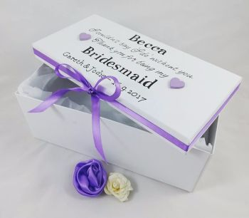 Bridesmaid - Maid of Honor - Flower Girl Personalised Keepsake Gift Boxe