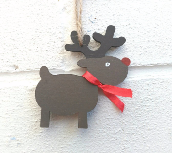 Christmas Decorations Reindeer Shaped Personalised
