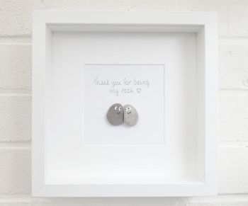Pebble Art Picture - Couple - Anniversary Home Decor Framed Gift