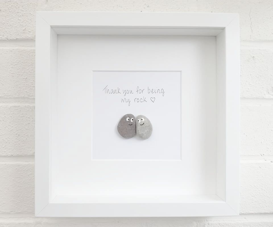 Pebble pictures Pebble Art wedding gift anniversary gift engagement gift ho