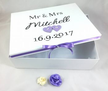 Wedding Keepsake Box Bride Personalised Wedding Cards Anniversary Gift