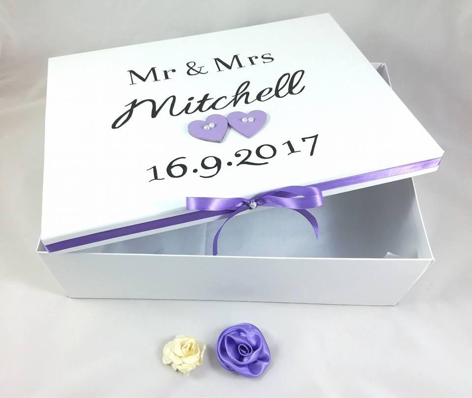 Wedding Keepsake Box Bride Personalised Wedding Cards Anniversary Gift