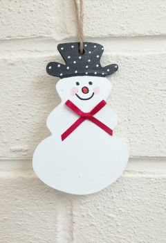 Christmas Snowman Personalised Decoration
