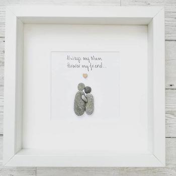Pebble Art Picture Mum - Birthday -  Personalised Gift Idea