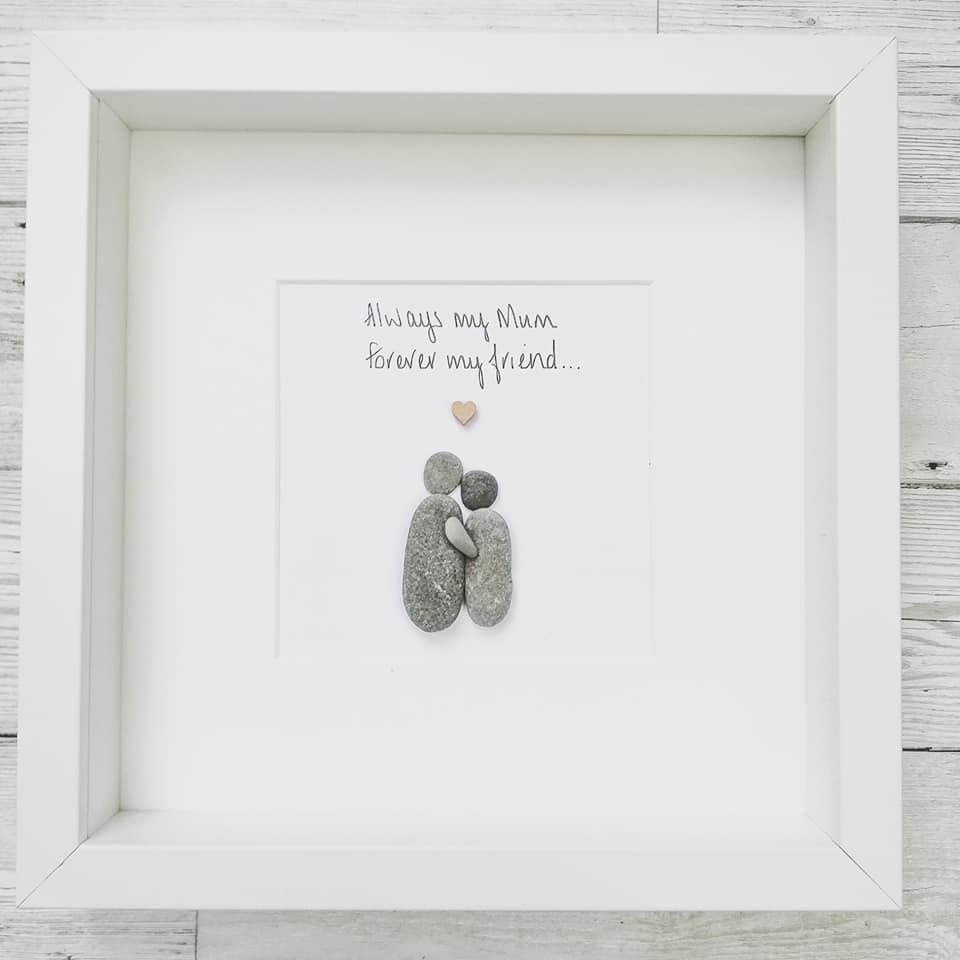 Pebble Art Picture Mum - Birthday Personalised Gift Idea