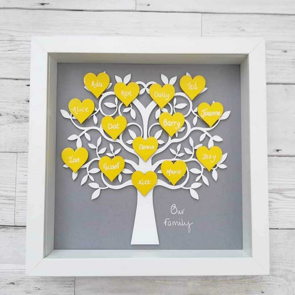 Family Tree Framed Wall Art Custom Design