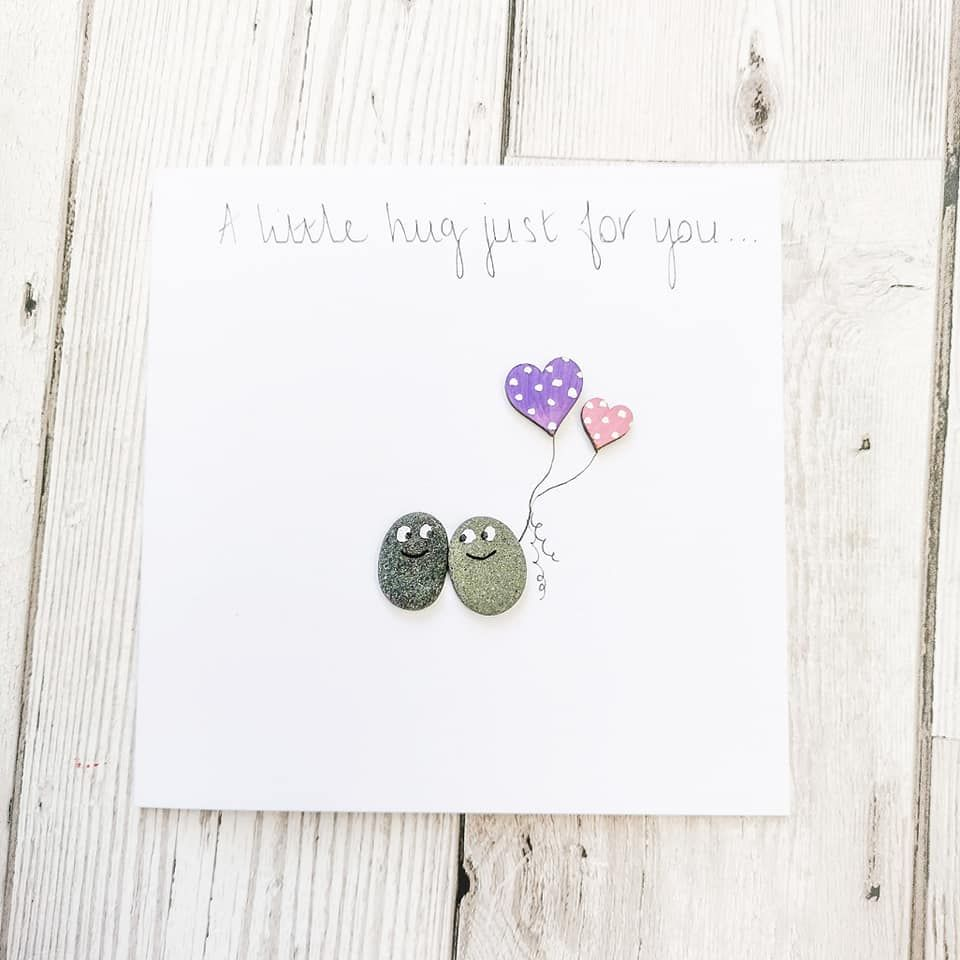Sending  A Hug - Thinking Of You Card - Birthday - Stay Strong - Personali