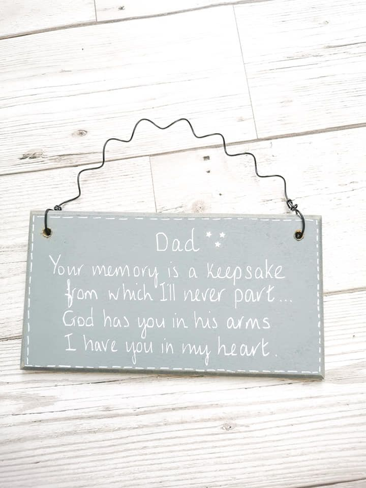 Dad Daddy Keepsake Memorial Plaque Personalised Sign
