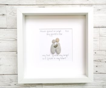 Pebble Art Picture Framed Family Friends Memorial Personalised Gift Idea
