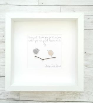 Pebble Art Picture Framed Teacher - Childminder - Tutor Personalised Thank you Gift