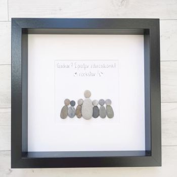 Pebble Art Picture Framed Teacher, Teaching Assistant, Tutor Personalised Thank you gift