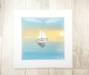 Coastal Mixed Media Acrylic Original on canvas