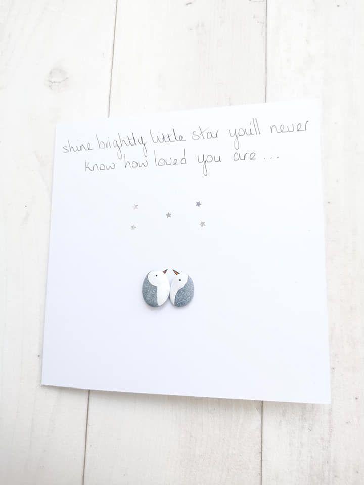 Funeral Bereavement Card Memorial Infant Loss  Loved One  Sympathy Pebble P