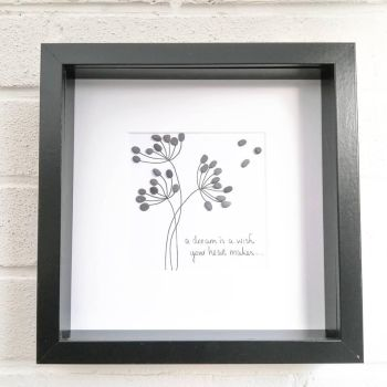 Pebble Art Picture Dandelion Wishes And Dreams - Family and Friends Gift Ideas