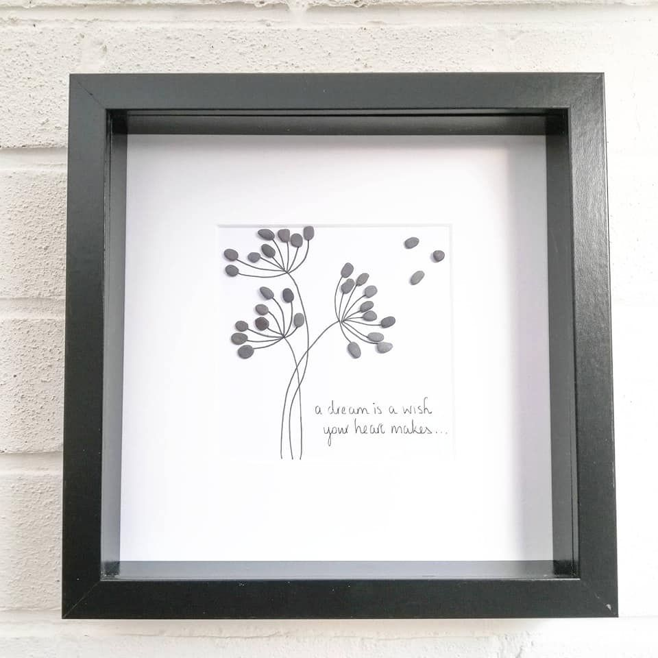 Pebble Art Picture Dandelion Wishes And Dreams - Family and Friends Gift Id