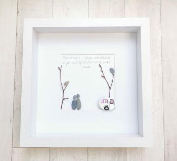 Pebble Art Picture - Caravan, Campervan Decor Outdoors Handmade And Framed Gift Idea