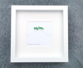 Almost There  - Cornish - Cookworthy Knapp Inspired - Sea Glass Art Picture Framed
