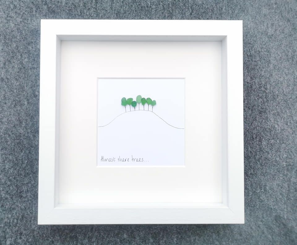 Almost There  - Cornish - Cookworthy Knapp Inspired - Sea Glass Art Picture