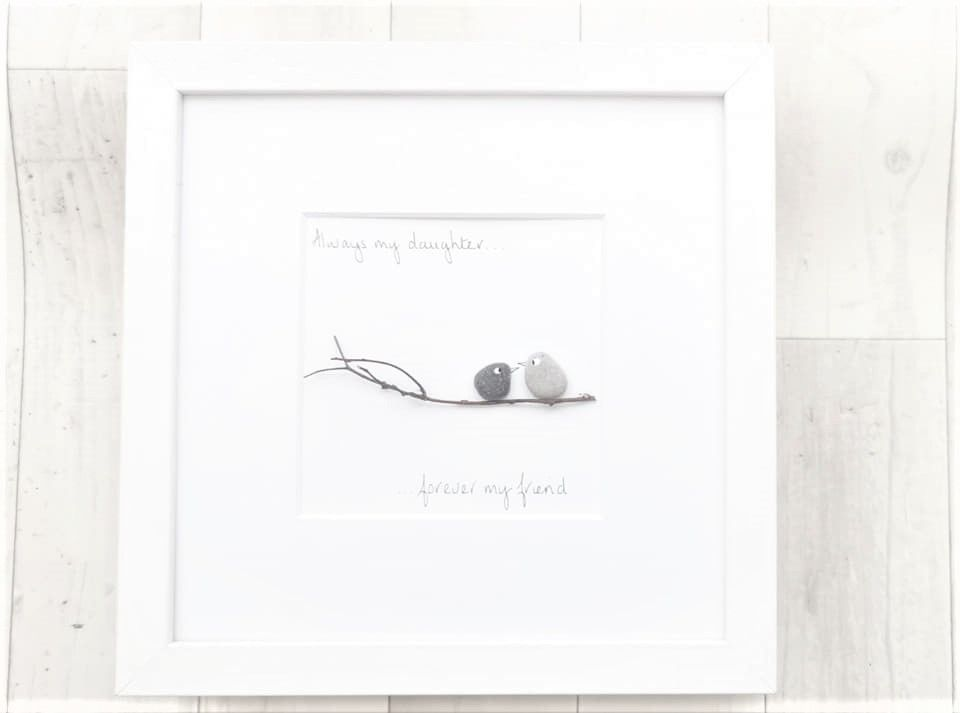 Daughter Gift - Pebble Art, Pebble Picture - Always My Daughter Forever My