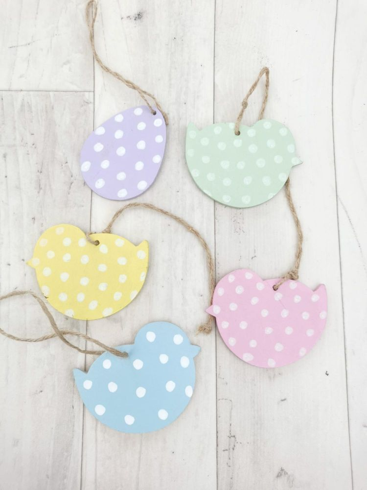 Easter Eggs and Chicks Handmade Hanging Decoration Baubles Personalised
