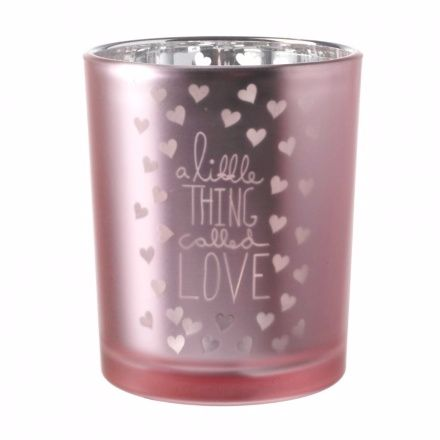 Pink Glass Candle Holder A Little Thing called love 7.5cm