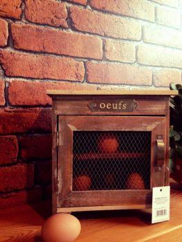 """Wooden Egg """"Oeufs"""" Cupboard With Mesh Door"""