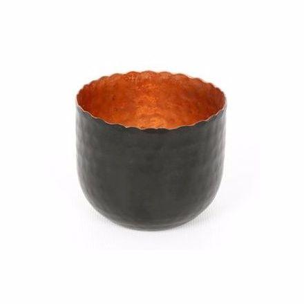 Tea Light Copper Leaf Candle Holder 7.5cm