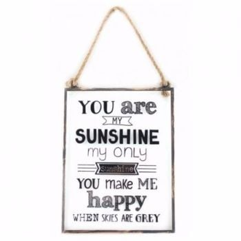 You are my Sunshine Glass and Metal Frame sign