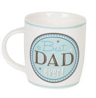 Best Dad Ever blue and grey ceramic mug