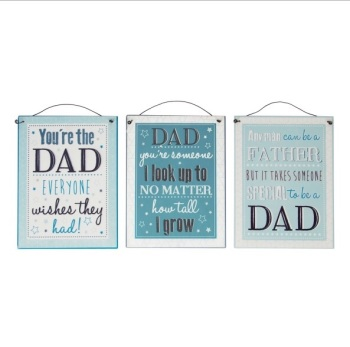 Best Dad hanging plaque - 3 designs available