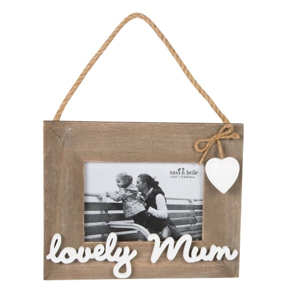 Lovely Mum wooden hanging photo frame