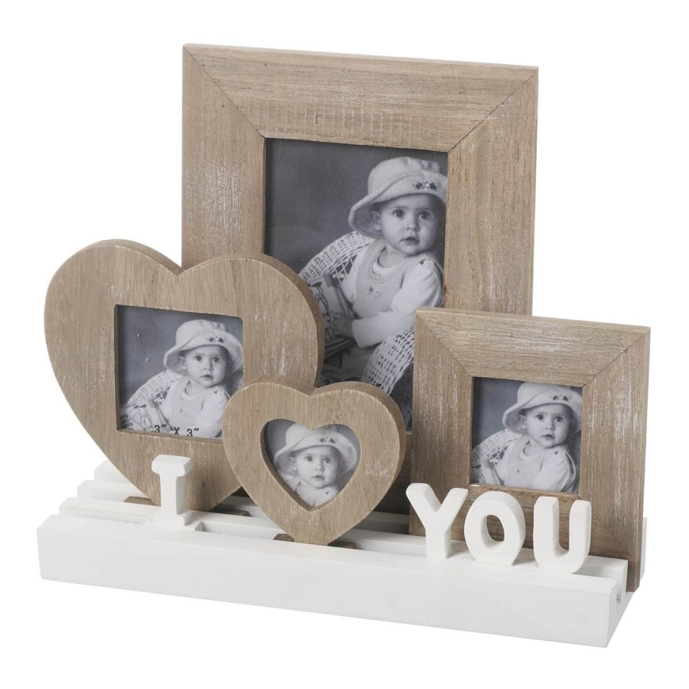 I LOVE YOU PLAQUE WITH HEART FRAMES