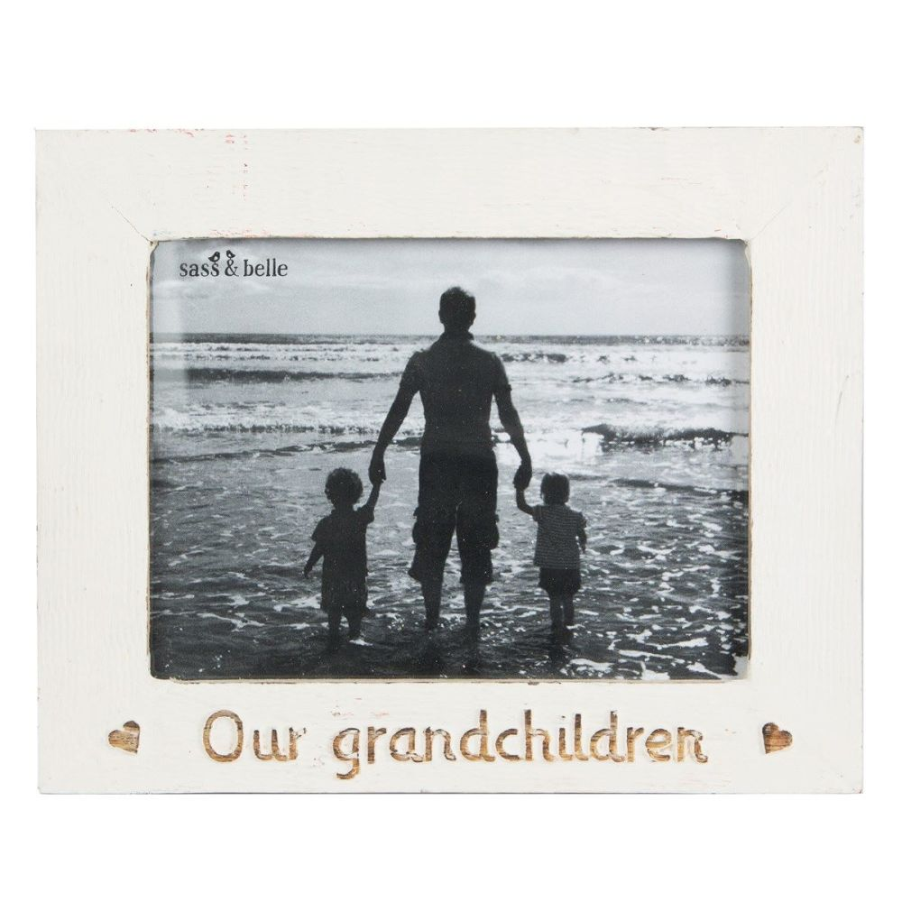 Our Grandchildren Rustic wooden photo frame