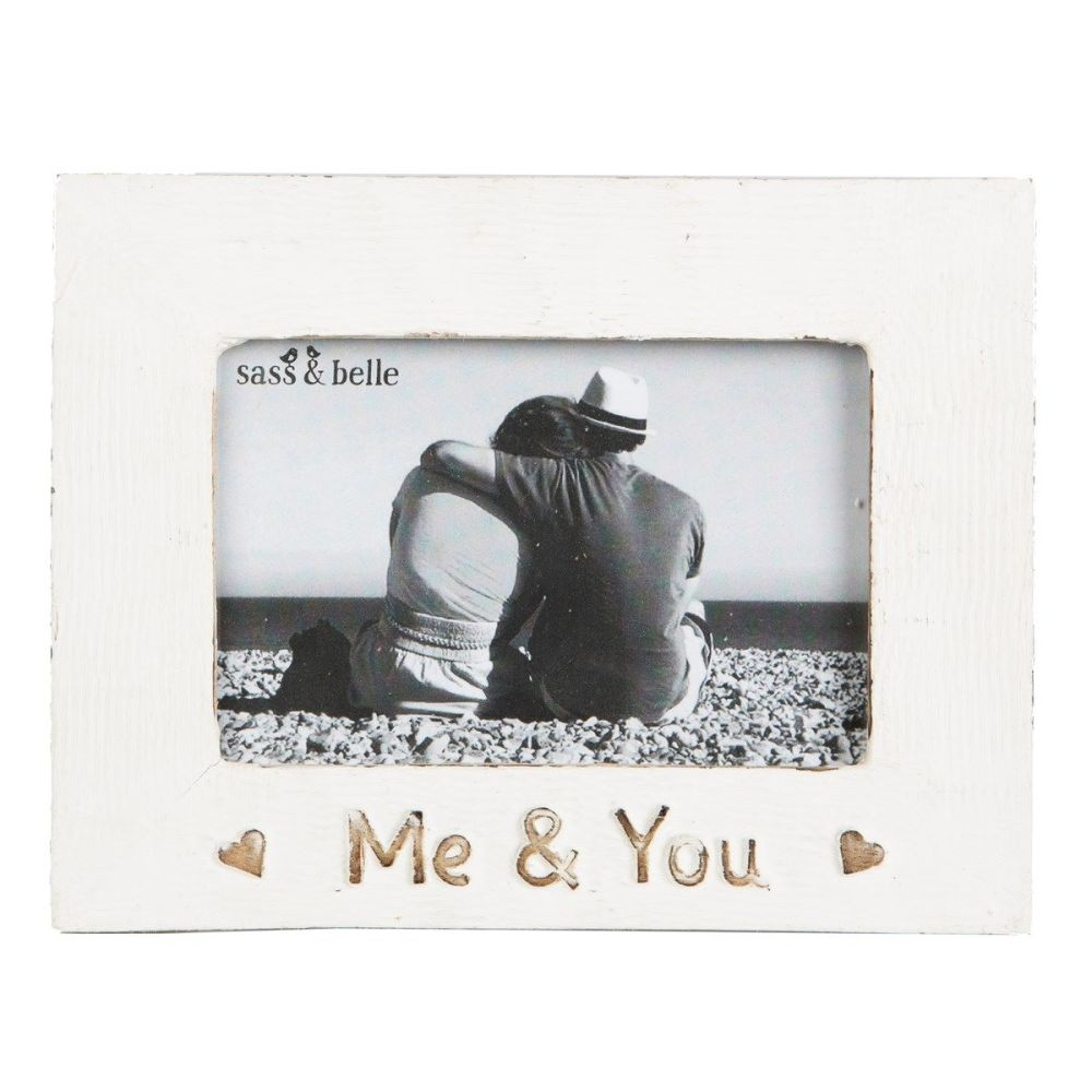 Me and You Rustic wooden photo frame