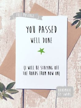 Driving Test Greeting Card