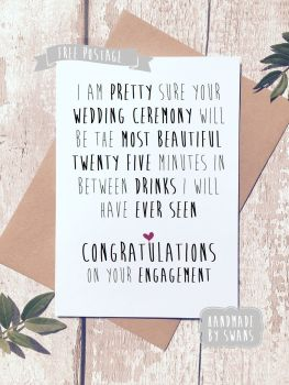 The best twenty five minutes Wedding Greeting Card