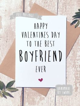 Best Boyfriend Ever Valentines Day Greeting Card
