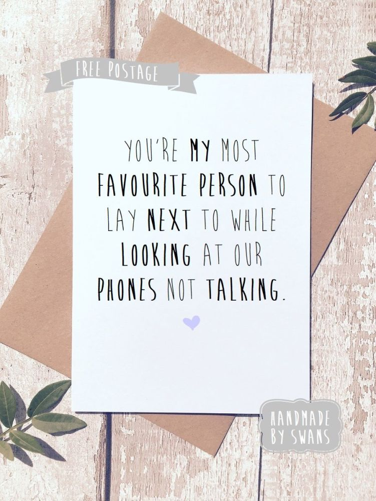 Phones not talking Valentines Day Greeting Card