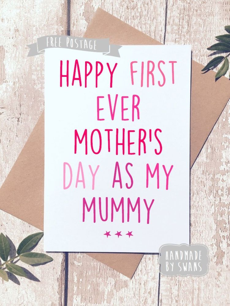Happy first Mother's Day as my mummy Greeting Card