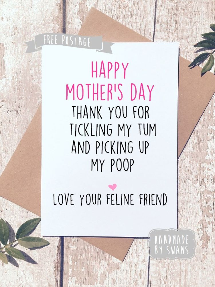 Happy Mother's day from your feline friend Greeting Card