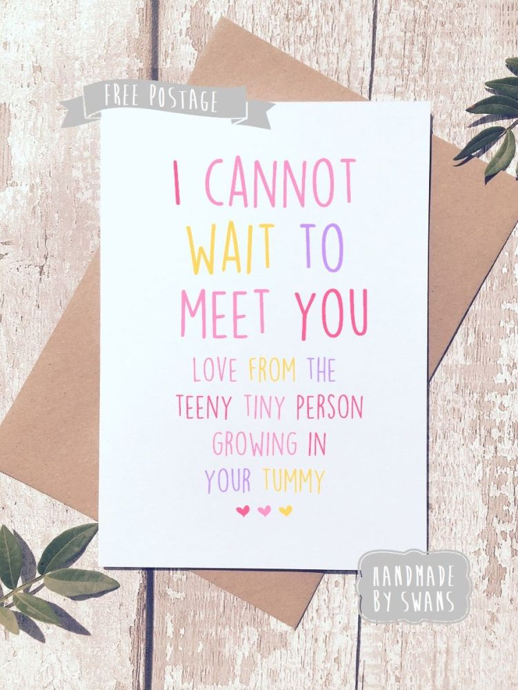 I cannot wait to meet you Mother's day Greeting Card
