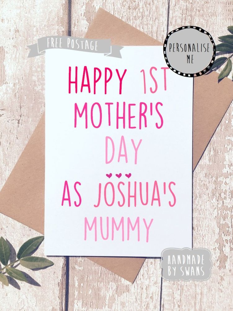 Personalised 1st Mother's day Greeting Card