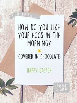 How do you like your eggs in the morning Happy Easter Greeting Card