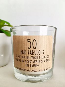 50 and Fabulous - Vanilla and Waffles Wax Candle