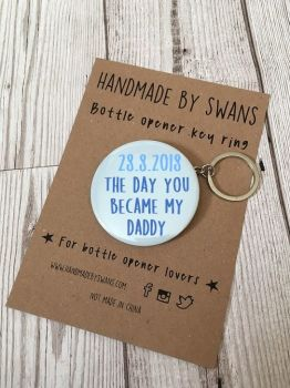 Personalised date... Bottle opener keyring
