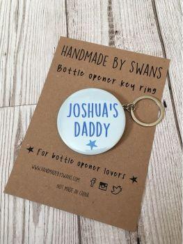 Personlised Daddy Keyring Bottle opener keyring